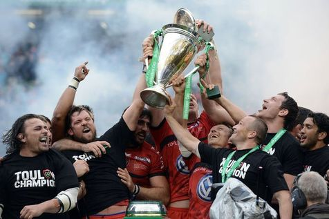 ラグビーのHcup2013でトゥーロンの勝ち